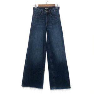 Express High Waisted Dark Wash Wide Leg Jeans